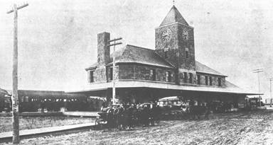 Great Northern Depot ca. 1910, 625 DeMers Avenue